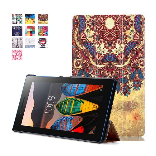 Printed magnetic stand PU leather cover case protective cover skin for 2016 Lenovo tab 3 7.0 710 essential tab 3 710f tablet