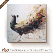 Custom Birds Design Peacock Canvas Oil Painting Art