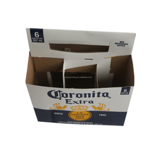 custom size cardboard 6 pack wine bottle beer carrier with your own logo