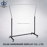 portable clothes rack/rotating clothes rack/standing display stand with wheels