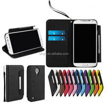 for samsung s4 mini wallet case, for samsung galaxy s4 leather cover with cards slots