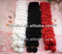 \Women's 100% real genuine rex rabbit fur knitted scarf