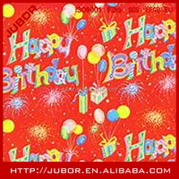 birthday gift wrapping craft paper with beautiful printing color