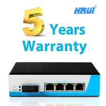 48 Hours Aging Test 1000m 5 port industrial fiber optic gigabit poe switch support IEEE802.3af
