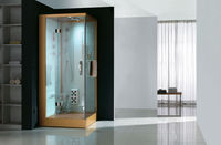 Luxury Steam Shower Cabin&Room U693-Gold optional with wooden roof and tray