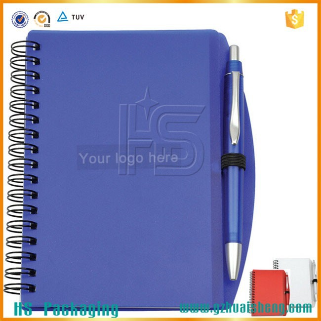 A5 High Quality Spiral Notebook With Sticky Notes And Pen Blank Cover Spiral Notebook