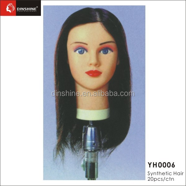 "Synthetic Hair 10"" Hairdressing Training Head with Clamp Stand"