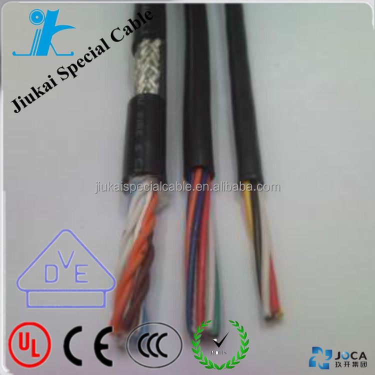 bare copper conductor with shielding 2*12 awg ofc speaker cable