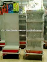 High Quality Powder Coating Single-sided Supermarket Display Shelf