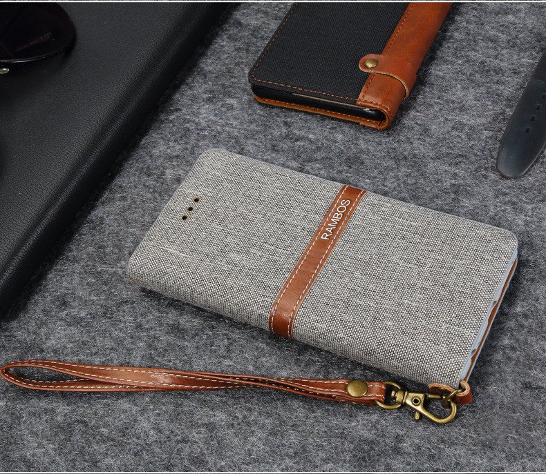 PU Leather Flip Phone Case Wallet Cash Slot Mobile Cover Stand for Vodafone First 6 Case