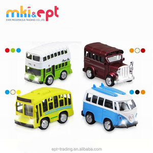 Hot selling 1:36 scale metal toy bus for sale,with light