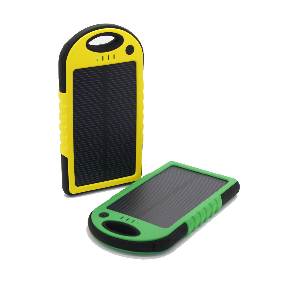 Shenzhen Seller 5000mAh Solar Charger Power Bank USB Cargador Solar