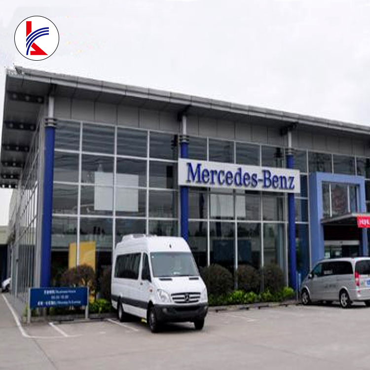 Light Type Large-Span Steel Portal Frame/Steel Structure 4S Car Showroom with Galvanized