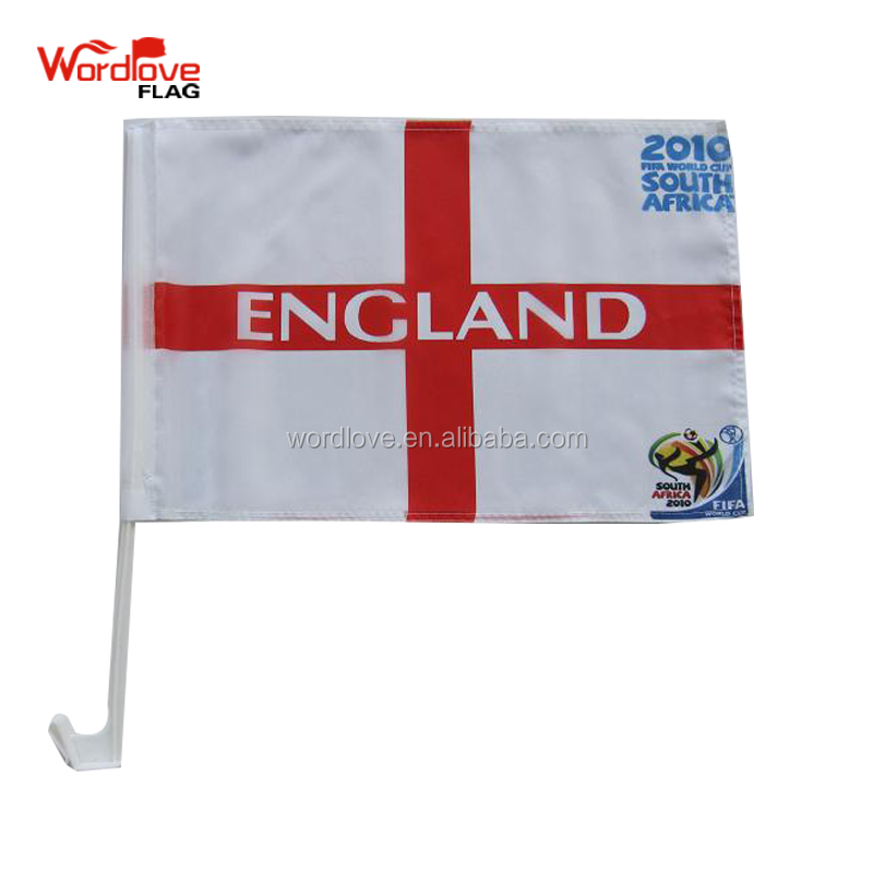 promotional high quality dye sublimation Football fans Car flag,Europe countries car window flag for 2018 World Cup