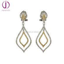 wholesale 2018 Popular jewelry 925 sterling silver micro pave drop new model earrings