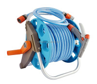 Manual rewindable 20 meter free standing hose reel set for small or medium garden