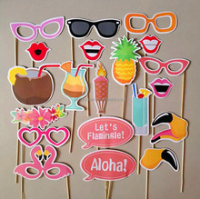 Party Paper Glasses Coconut Photo Booth Props Kit