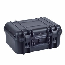 plastic material dust and humid protection laptop flight case with supports to fix panels