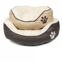 Professional Wholesale Luxury PU Leather Comfy Touch Dog Cot Bed