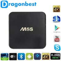 2016 Hot Selling M8S Android TV Box Dual WiFi Band Kodi Loaded 2G/8G Google M8S Amlogic S812 Quad Core Android 4.4 4k ott tv box