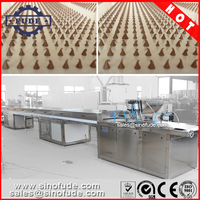 chocolate chips making machine with cooling tunnel