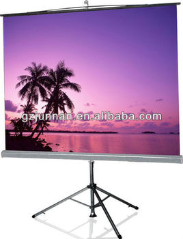 tripod projection screen for office system