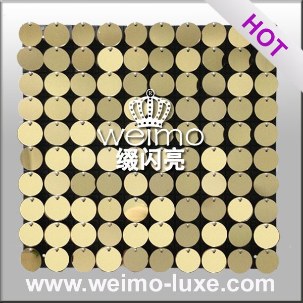 Shimmer PVC Wall Sequin Tile For Wall