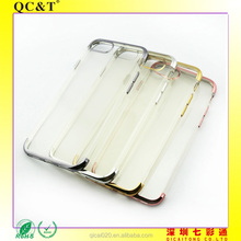 Wholesale Mobile phone soft Electroplating TPU case Ultrathin electroplating bumper phone case printing TPU case for iphone 7
