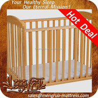 anti-mite visco-elastic foam baby cot with mattress