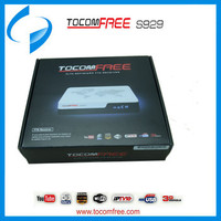 Tocomfree satellite receptor S929 for South America with wifi,3G,iptv function tocomfree s929 hd satellite decoder
