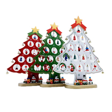 FQ brand Hot Sale Wooden Tabletop Christmas Tree With Miniature Christmas Ornaments cheap wholesale christmas tree stand