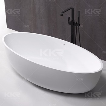 Oval design hotel project sanitary ware whirlpool bathtubs