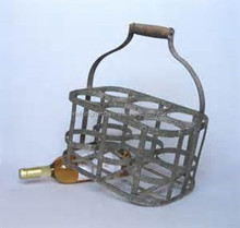 Wholesale Metal Beer Bucket Drinks Holder, Cheap Metal 6 Bottles Beer Carrier