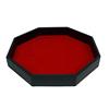 Black PU and red velvet