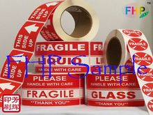 Super quality cost price adhesive paper fragile sticker
