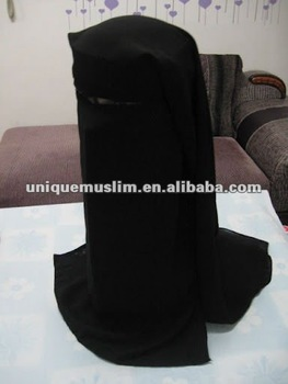 H049 latest high quality big size muslim niqab,face mask