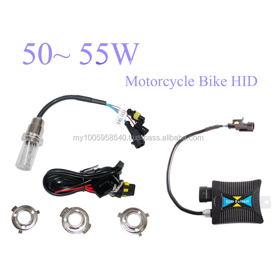 New One kit 55W 12V H4 Motorcycle Bike HID Hi/Low Beam Bi-xenon Kit+Slim Ballast 4300K 5000K 6000K 8000K