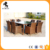 Standard outdoor rattan garden hexagon patio furniture dining set chairs and table