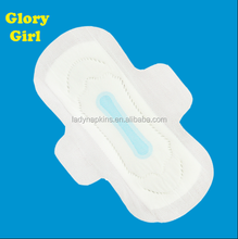 Super absorbent ultra soft anion clue chip ouioui cotton sanitary napkin /sanitary pads/ sanitary towels