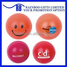 Hot selling Eco-friendly logo printed cheap smile pu antistress ball for promotion