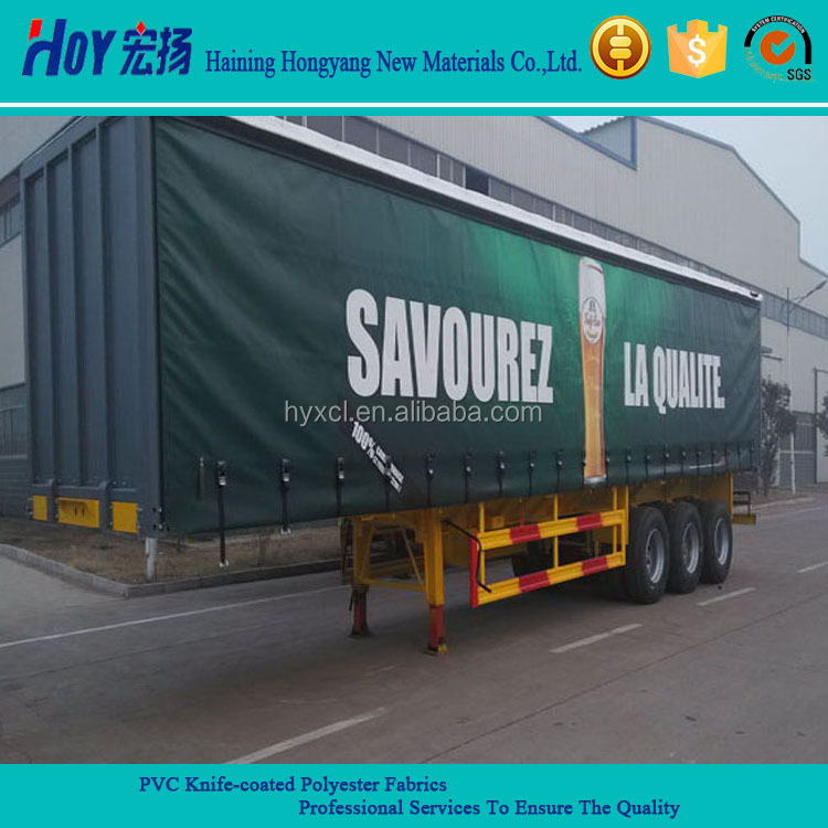 Tarpaulin Curtain Side Trailer Parts / Curtain Side Trailer Used Coated Fabric
