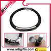 pure white and translucence silicone magnetic metal elastic bracelet