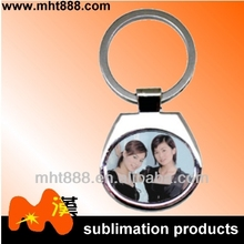 sublimation metal keychain A89 OEM promotional printing custom blanks sublimation metal key chain