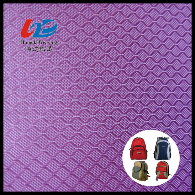 100% Polyester Dobby Diamond Weave Fabric With PU/PVC Coating For Bags/Luggages/Shoes/Tent Using