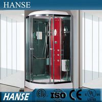 HS-SR115-2X low price ce girl temper glass red steam shower room