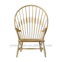 wooden furniture fantastic peacock leisure wooden chair/Garden furniture beautiful solid wood lounge chair