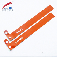 Passive Programmable Chip ID Paper Disposable UHF RFID Wristband Price
