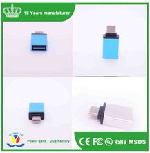 Aluminum Alloy USB3.1 Type-C to USB3.0 OTG Adapter Converter For New MaC For Cell Phones Tablet; Support