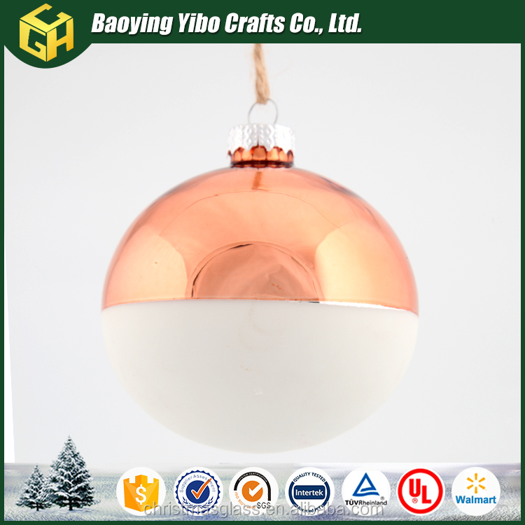 Craft wholesale stained indoor christmas glass hanging ball