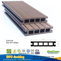 wood plastic composite waterproof flooring board waterproof terrace wood 140x30mm wpc decking
